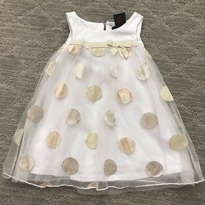 Cynthia Rowley white and gold baby dress